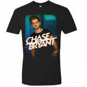 Chase Bryant Black Photo Tee w/ Blue Background