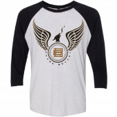 Chase Bryant Heather White and Black Raglan Tee