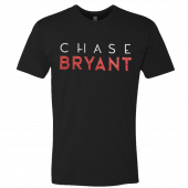 Chase Bryant Black Red Logo Tee