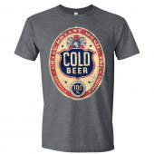 Chase Bryant Dark Heather Cold Beer Tee