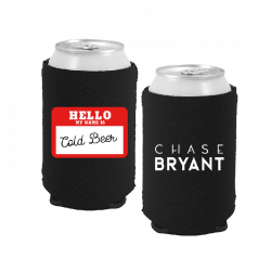 Chase Bryant Black Cold Beer Coolie